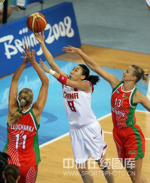 图文-[女篮1/4决赛]中国vs白俄罗斯 苗立杰上篮