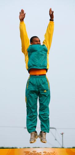 图文-男子单人皮艇决赛 领奖台上的布克佩蒂
