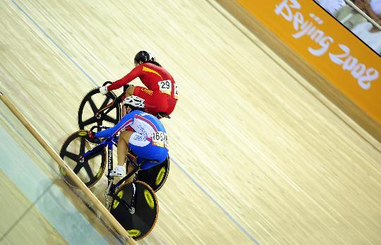 自行车女子争先赛1/4决赛