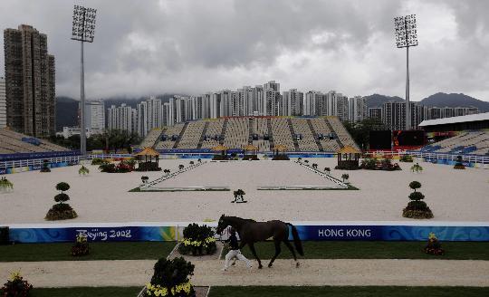 奥运马术三项赛第一次验马