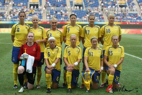 图文-[女足]瑞典vs阿根廷 瑞典队本场首发11人