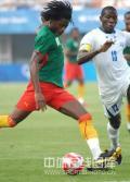 图文-喀麦隆国奥对阵洪都拉斯 起脚大力远射