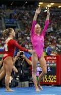 图文-体操女子全能柳金登冠 得知获胜的柳金