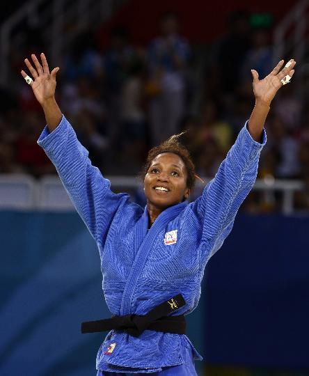 图文-女柔57公斤级意大利选手摘金 银牌也不错