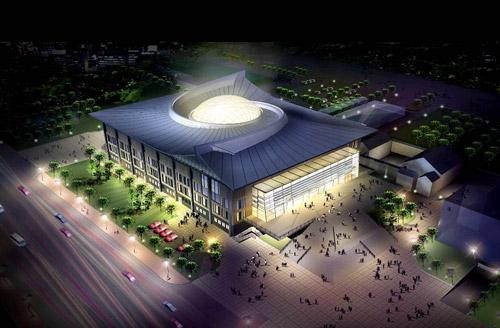 资料图片:北京大学体育馆--屋顶的中国脊