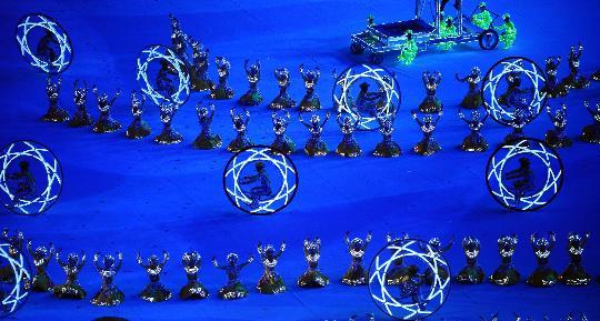 图文-北京奥运会闭幕式举行 美轮美奂的表演