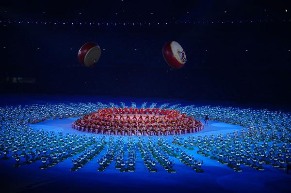 图文-2008北京奥运会闭幕式 闭幕式突出两个字圆满