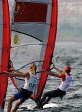 女子帆板赛况