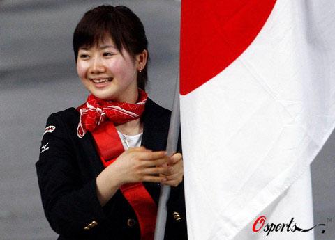 图文-[开幕式]日本代表团入场 福原爱担任日本旗手