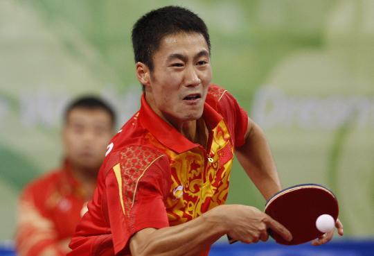 图文-乒乓球男单王励勤晋级八强 王励勤横扫对手