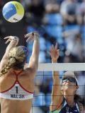 图文-北京奥运女子沙排半决赛 美巴大对抗
