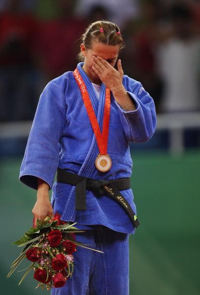 图文-奥运柔道女子48公斤级 杜米特鲁难掩激动之情