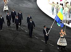 雅典奥运会开幕式 非洲加蓬代表团入场