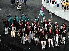 雅典奥运会开幕式 冈比亚代表团入场