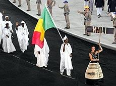 雅典奥运会开幕式 非洲科摩罗代表团入场