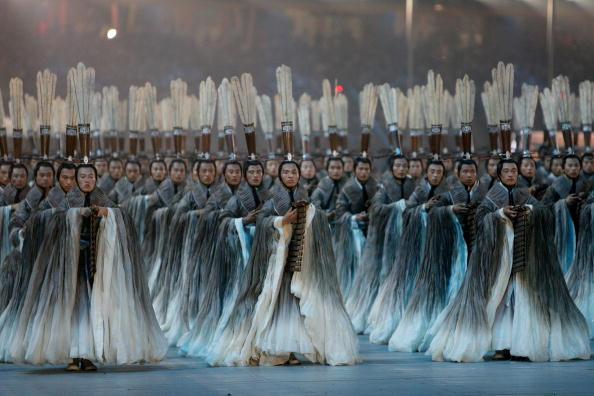 图文-北京奥运会开幕式回顾 孔子三千弟子进场