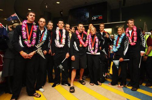 新西兰奥运健儿载誉归国