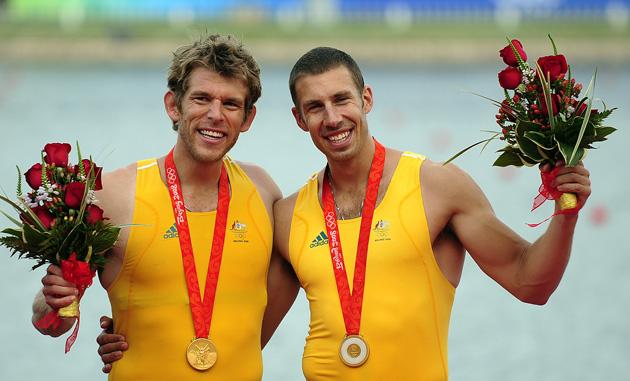 图文-[奥运]男子双人双桨 澳大利亚队夺得金牌