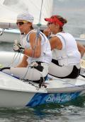 图文-奥运帆船帆板精彩回顾  西班牙美女补充体力