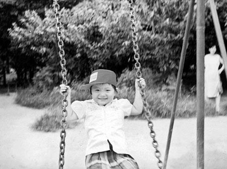 图文-奥运冠军郭文�B成长影像 五岁时不识愁滋味