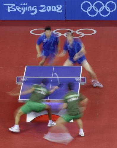 图文-奥运会乒乓球经典瞬间回顾 画面十分的炫