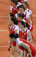 图文-女排半决赛中国0-3巴西 中国姑娘输的面无表情