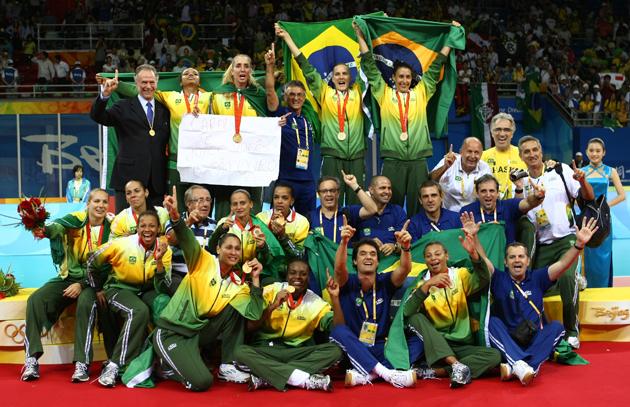图文-[奥运]女排巴西3-1美国 巴西女排终于实现加冕