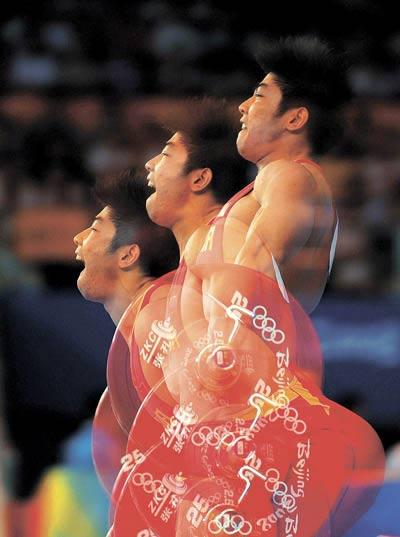 图文-08奥运会举重比赛集锦 大力士梦幻一举