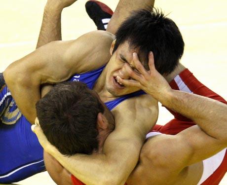 图文-奥运会自由式摔跤回顾 悄悄的蒙上你的眼睛