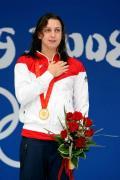 图文-女子200米蛙泳决赛 升起祖国旗帜