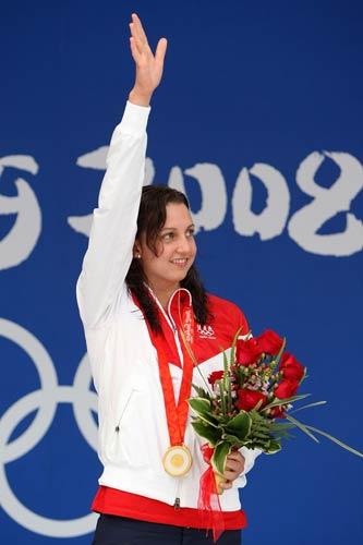 图文-女子200米蛙泳决赛 感谢观众支持