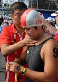 图文-女子10公里公开水域决赛 中国选手方晏乔
