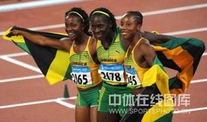 女子百米大战牙买加包揽前三弗雷泽10秒78夺冠