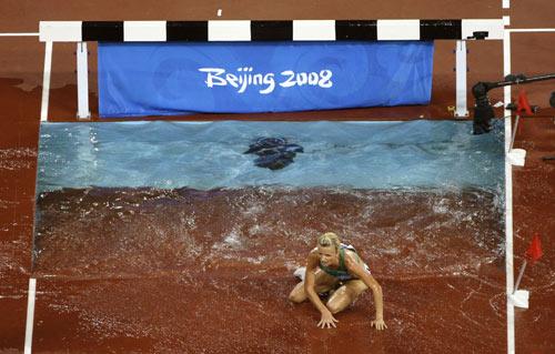 图文-女子3000米障碍赛 萨米托娃摔倒也无防