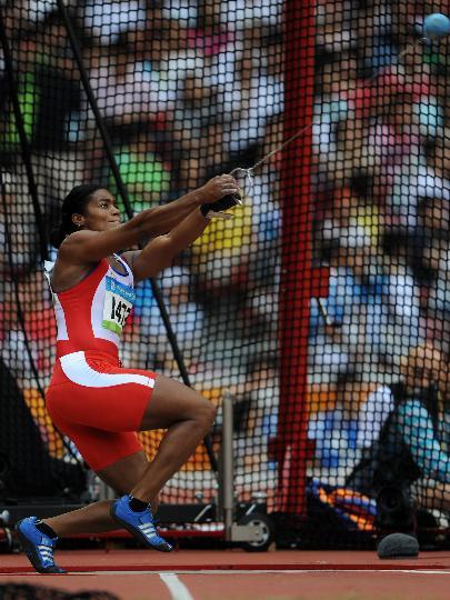 图文-女子链球及格赛赛况 古巴选手伊普茜-莫雷诺