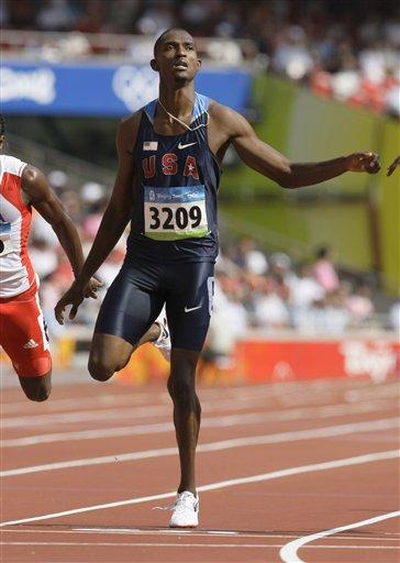 图文-奥运会男子400米预赛 美国选手大卫-内维尔