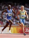 图文-奥运会男子400米预赛 加里-基卡亚与魏斯曼