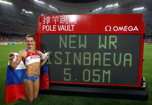 图文-奥运会女子撑杆跳决赛 伊辛巴耶娃刷新纪录
