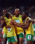 图文-牙买加刷新4x100纪录 牙买加拿到金牌