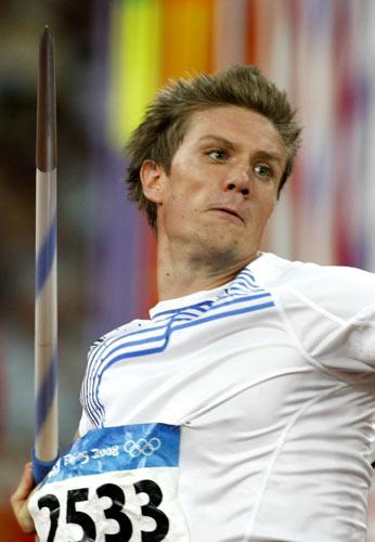 图文-田径男子标枪决赛打响 挪威选手爆发