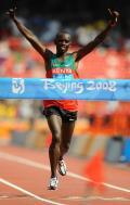 图文-男子马拉松肯尼亚卡马乌夺金 卡马乌骄傲夺冠