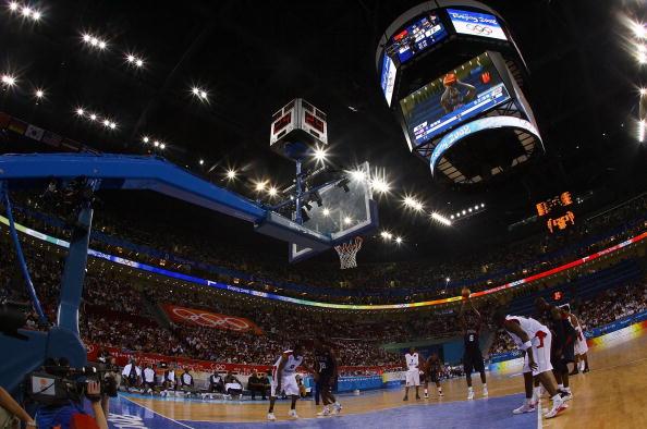 图文-安哥拉76-97美国男篮 五棵松成篮坛圣地