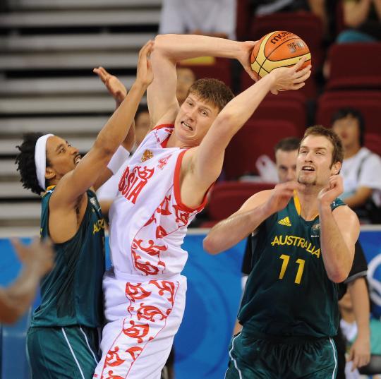 男篮俄罗斯80-95澳大利亚