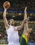 图文-西班牙男篮胜立陶宛进决赛 这就是加索尔