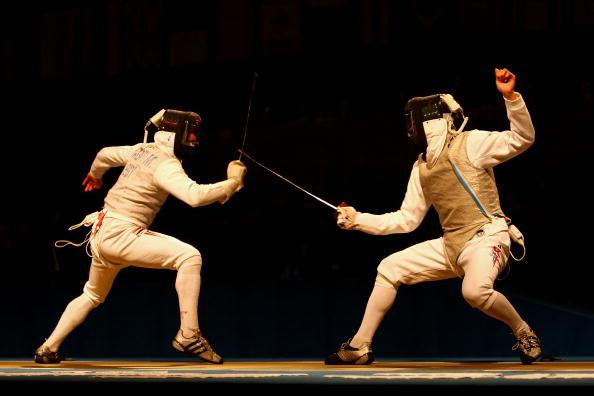 图文-击剑男子花剑个人赛 孟凯睿的从容风风度