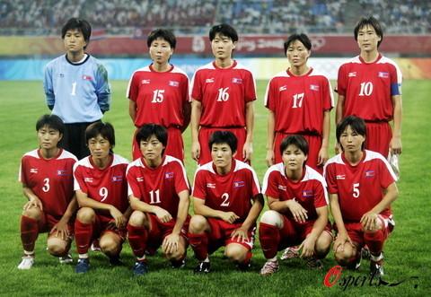 图文-[奥运会]朝鲜女足VS尼日利亚 朝鲜女足首发