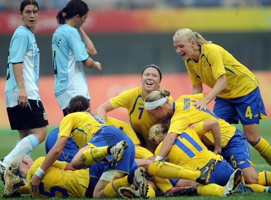 图文-[女足]瑞典1-0胜阿根廷 一起分享胜利的喜悦