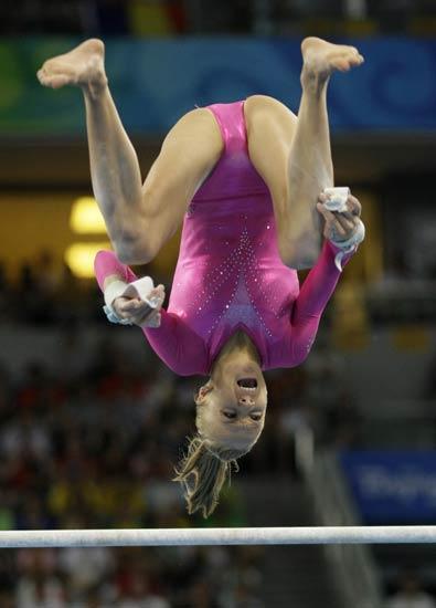 图文-柳金获体操女子全能冠军 美国选手柳金