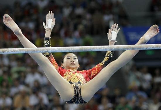 图文-柳金获体操女子全能冠军 中国选手江钰源