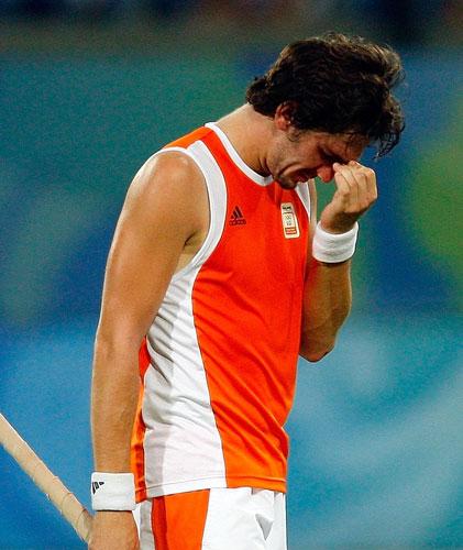 图文-澳大利亚男曲胜荷兰摘铜 伤心的荷兰队员